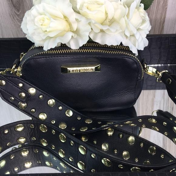 Steve Madden Handbags - Steve Madden Studded Black Crossbody Bag